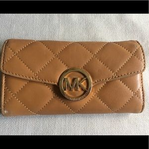 Michael Kors Leather Quilted Continental Wallet
